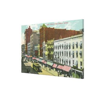 Clinton Street View of Main Street Canvas Print