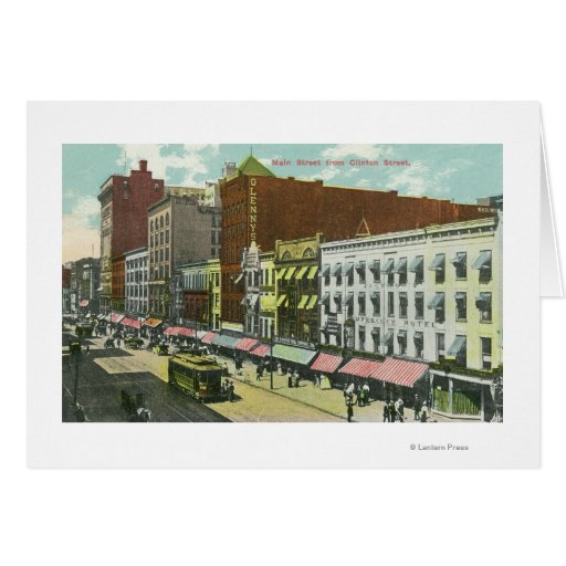 Clinton Street View of Main Street Greeting Card