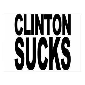 Clinton Sucks Postcard