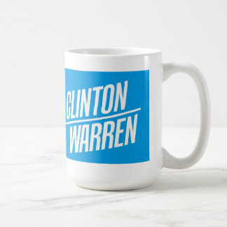 Clinton/taza de Warren 2016 Taza Básica Blanca