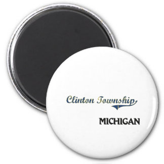 Clinton Township Michigan City Classic 2 Inch Round Magnet