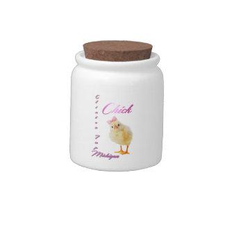"Clinton Twp. Michigan ""Chick"" Candy Jar"