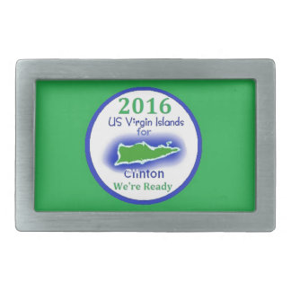 Clinton Virgin Islands 2016 Belt Buckle