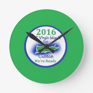 Clinton Virgin Islands 2016 Round Clocks