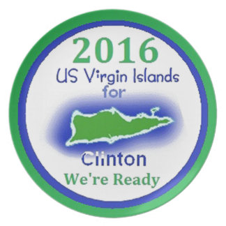 Clinton Virgin Islands 2016 Dinner Plate