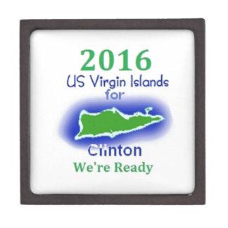 Clinton Virgin Islands 2016 Keepsake Box