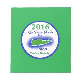 Clinton Virgin Islands 2016 Notepad