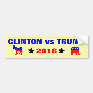Clinton vs Trump Presidential Elections 2016 Bumper Sticker