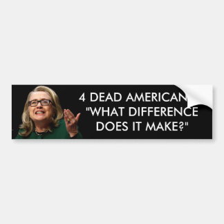 Clinton -  What Difference Does It Make? Car Bumper Sticker
