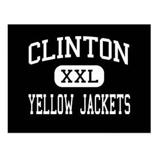 Clinton - Yellow Jackets - High - Clinton Arkansas Post Card