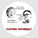 clintondiplomacy3 round stickers