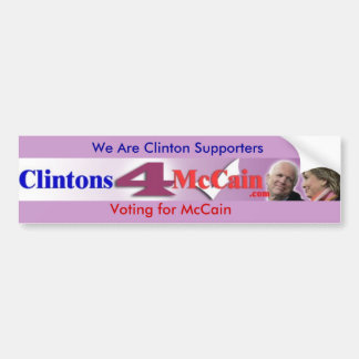 Clintons4McCain Bumper Sticker