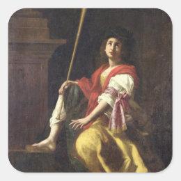 Clio, Muse of History, 1624 Square Sticker