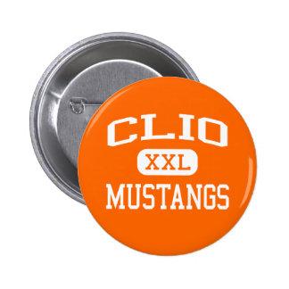 Clio - Mustangs - Clio High School - Clio Michigan Pinback Button