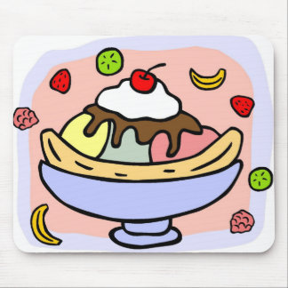 Clip Art Banana Split Mousepad