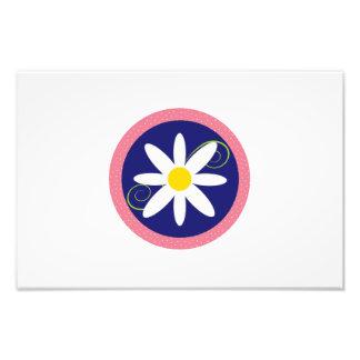 Clip art de la flor blanca arte fotografico