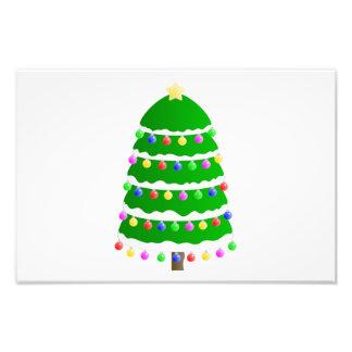 Clip art del árbol de navidad arte fotografico