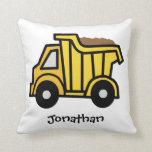 Clip art del dibujo animado con un camión volquete almohada