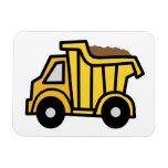 Clip art del dibujo animado con un camión volquete iman