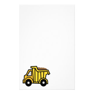 Clip art del dibujo animado con un camión volquete papelería personalizada