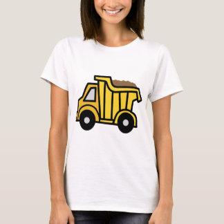 Clip art del dibujo animado con un camión volquete playera