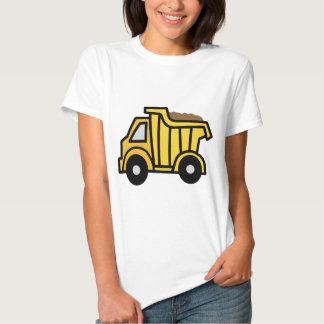 Clip art del dibujo animado con un camión volquete remeras