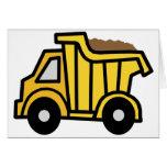 Clip art del dibujo animado con un camión volquete tarjeta pequeña