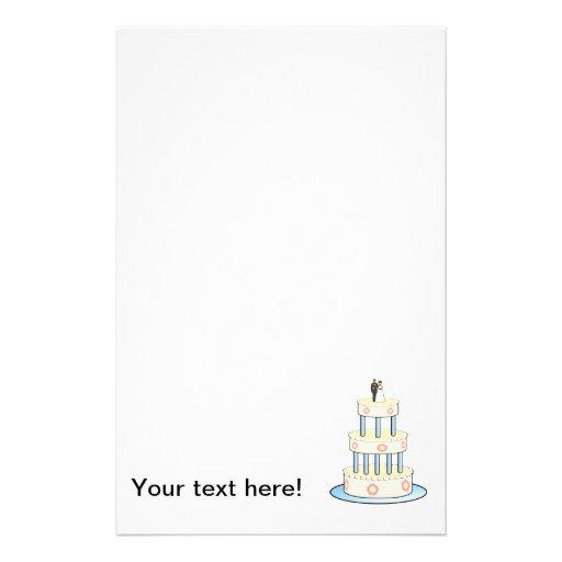 Clip art del pastel de bodas papeleria de diseño