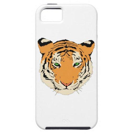 Clip art del tigre iPhone 5 Case-Mate protector