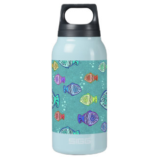Clip Art Fish Pattern + your ideas 10 Oz Insulated SIGG Thermos Water Bottle
