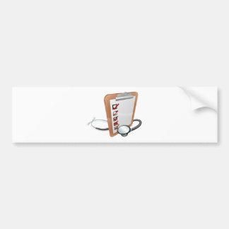 Clip Board and Stethoscope Car Bumper Sticker