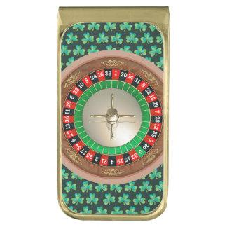 Clip del dinero de la ruleta clip para billetes dorado