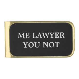 Clip del dinero del abogado con humor clip para billetes dorado