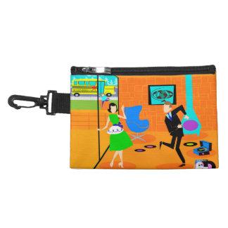 Clip retro feliz de los padres en bolso accesorio