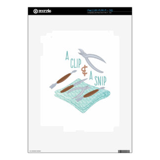 Clip & Snip Decal For iPad 2