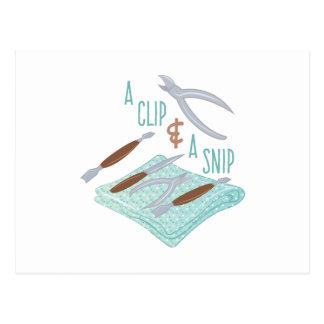 Clip & Snip Postcard