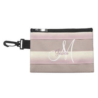 Clip sombreado de las rayas en bolso accesorio