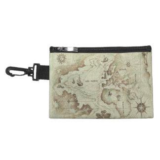Clip viejo de Mapamundi en bolso accesorio