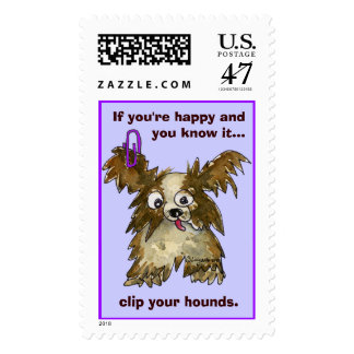Clip Your Hounds Custom Postage Stamps