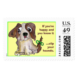 Clip Your Hounds Puppy Custom Postage Stamps