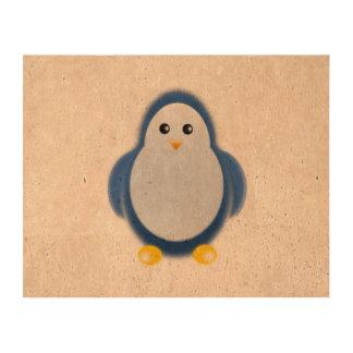 Clipart azul del pingüino impresiones en corcho
