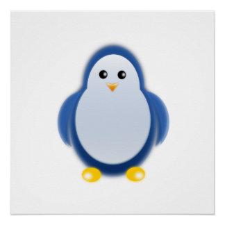 Clipart azul del pingüino