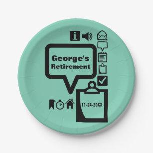Clipart Choose color Retirement Party Paper Plates  sc 1 st  Zazzle & Celebrate Retirement Plates   Zazzle