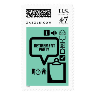 Clipart Choose your Color1 Custom Retirement Stamp