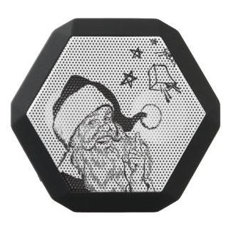 Clipart Classic Santa Claus Bells Retro Vintage Black Bluetooth Speaker