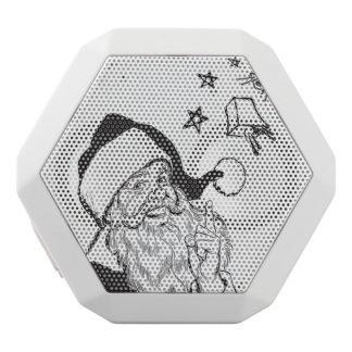 Clipart Classic Santa Claus Bells Retro Vintage White Bluetooth Speaker