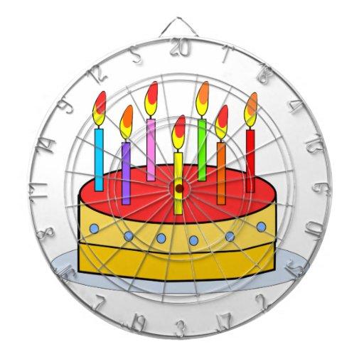 Clipart de la torta de cumpleaños tablero dardos