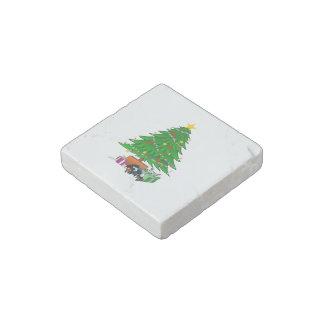 Clipart del árbol de navidad y de los regalos imán de piedra