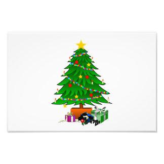 Clipart del árbol de navidad y de los regalos fotografia