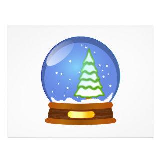 "Clipart del globo de la nieve folleto 8.5"" x 11"""